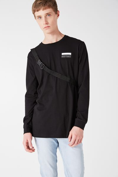 Ls Amped Tall Tee, BLACK/SUBTRACT