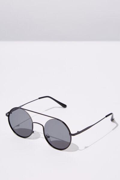 Round Topbar Sunglasses, M.BLK_SMK