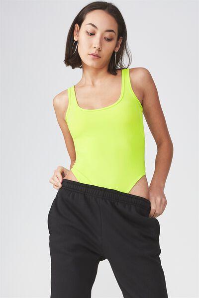 High Cut Bodysuit, ACID LIME