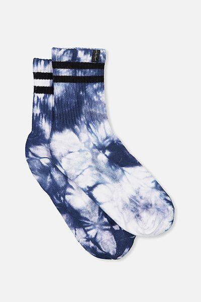 Retro Sport Sock, NAVY_TIE DYE STRIPE