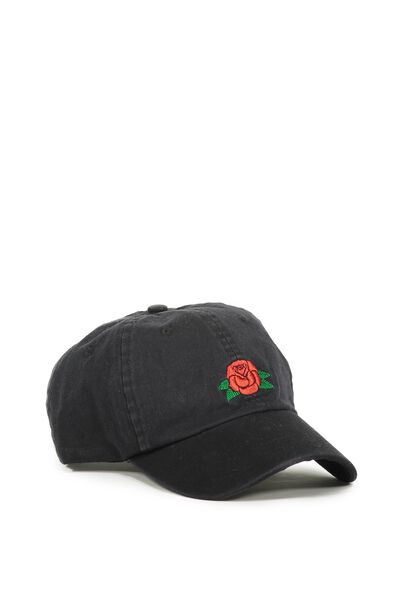 Dad Cap, RED ROSE_BLACK