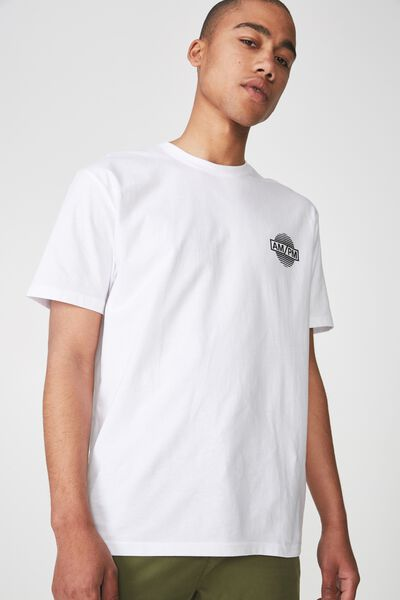 Graphic T Shirt, WHITE/AM/PM