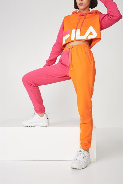 Fila Lcn Colour Block Trackpant, PUFFINS BILL/FUCHSIA PURPLE