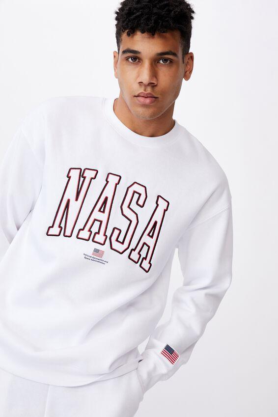 Oversized Nasa Crew, LCN NAS WHITE NASA