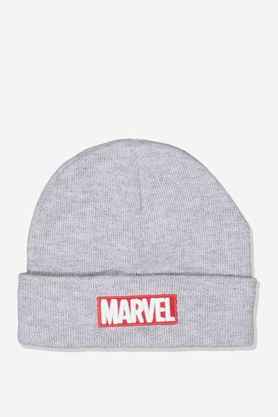 Lcn Marvel Beanie, GREY_RED