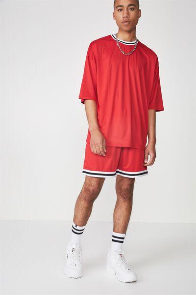 Tape Trim Shorts, LYCHEE