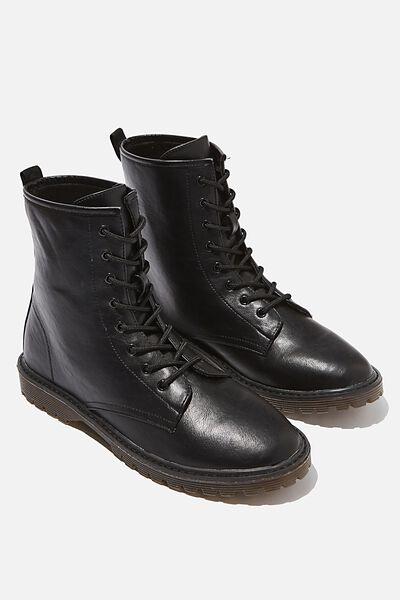 Guys Combat Boot, BLACK
