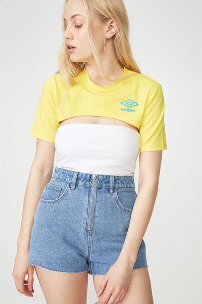 Umbro Lcn Ultra Crop Tshirt, VIBRANT YELLOW