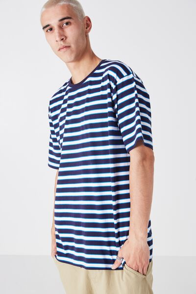 Og Stripe Tee, BLUE/WHITE