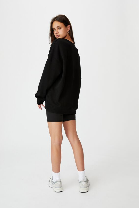 Oversized Graphic Crew, BLACK/OUT OF SIGHT