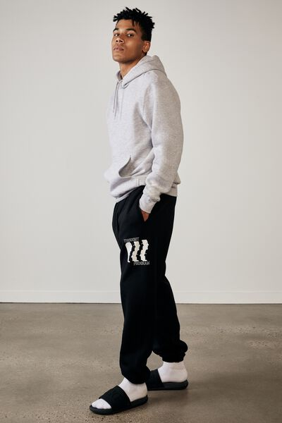 Relaxed Graphic Trackpant, BLACK/STATIC SOCIETY