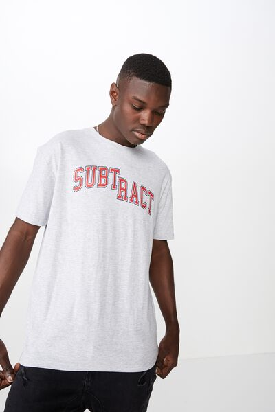 Graphic T Shirt., LIGHT GREY MARLE/SUBTRACT DROP