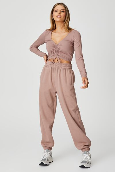 Super Slouchy Trackpant, DIRTY BLUSH