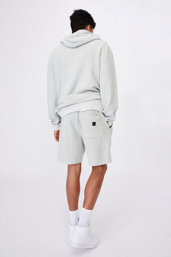 Reverse Fleece Track Short, WASHED GREY