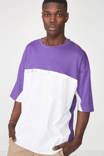 Reflector Block T Shirt, TILLANDASIA PURPLE