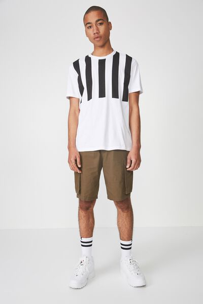 Graphic T Shirt, WHITE/CROSSING STRIPE