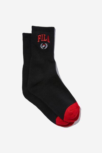 License Retro Sport Socks, BLACK_FILA