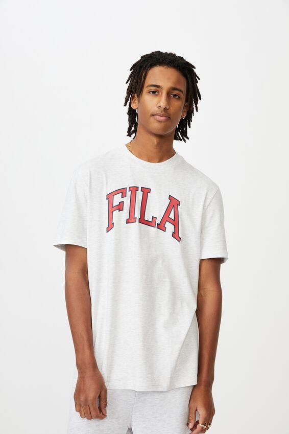 Fila Lcn Regular Graphic T Shirt.., SILVER MARLE/COLLEGIATE