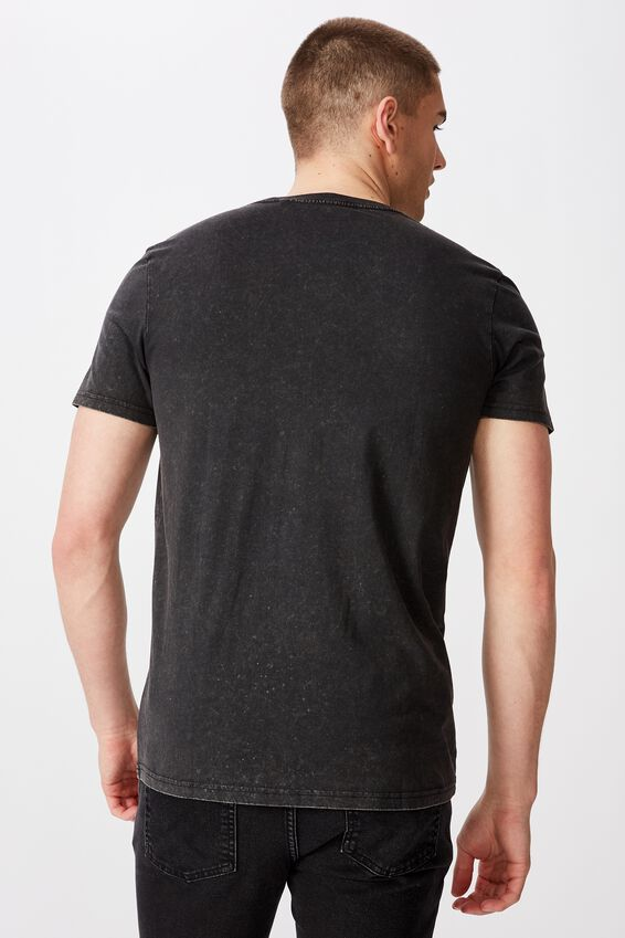 Slim Graphic T Shirt, WASHED BLACK/DAGGER