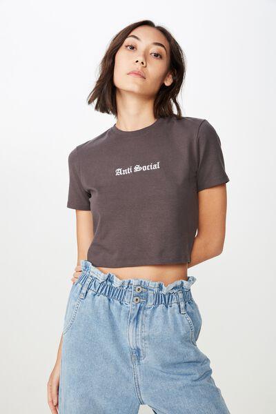 8f0e62c6e76 Fitted Graphic T Shirt, ASPHALT/ANTI SOCIAL