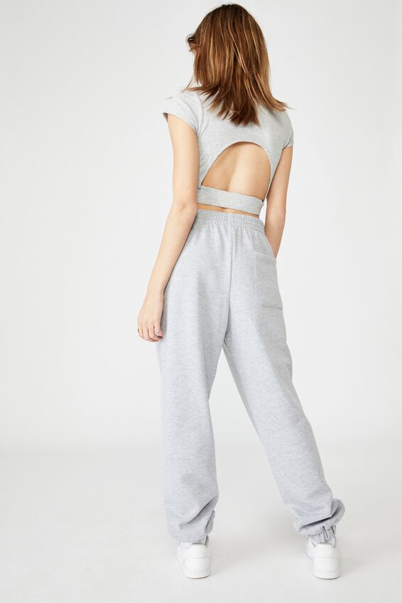 Super Slouchy Trackpant, GREY MARLE