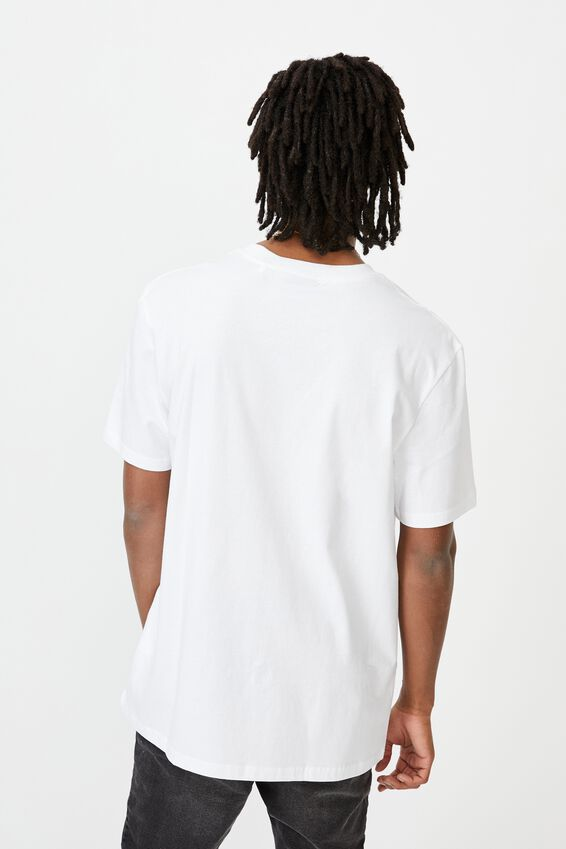 Regular License T Shirt, WHITE FETCH YOUR LIFE