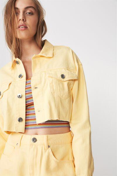 Crop Denim Jacket 2, LEMONADE