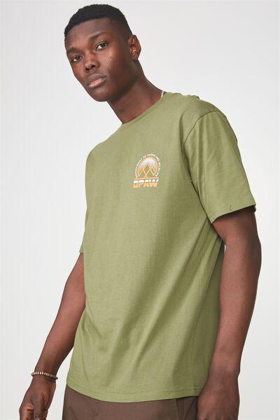 Graphic T Shirt, BRONZE GREEN/DPAW