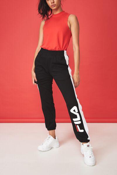 Fila Side Stripe Trackpant, BLACK