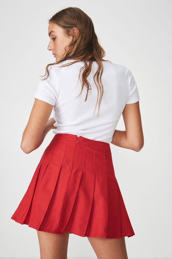 Short Sleeve Rib Henley, WHITE