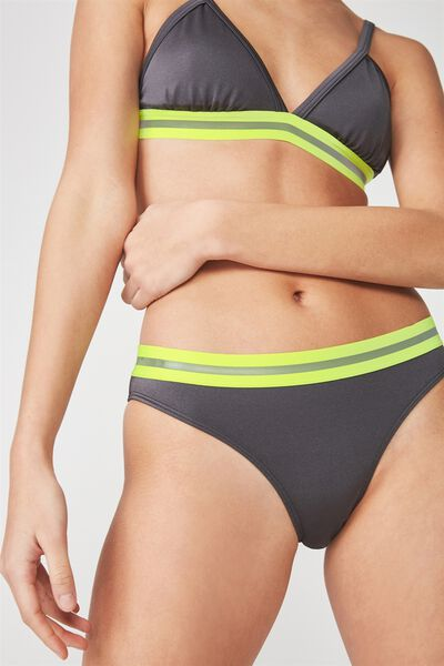 Full Bikini Bottom With Tape, SHINY TITANIUM