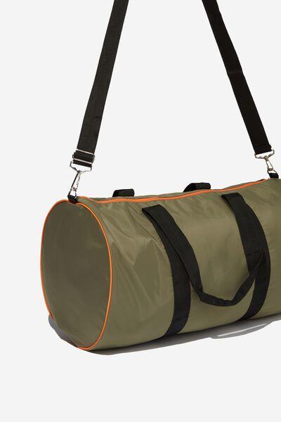 Duffle Bag, KHAKI_BLK