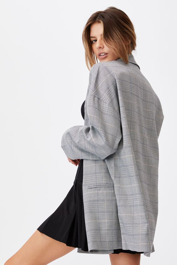 Oversized Blazer, HAILEY CHECK