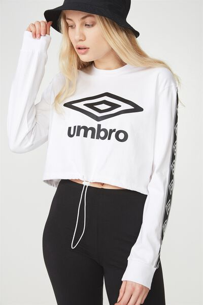 Umbro Lcn Toggle Front Longsleeve Top, WHITE/BLACK_LOGO