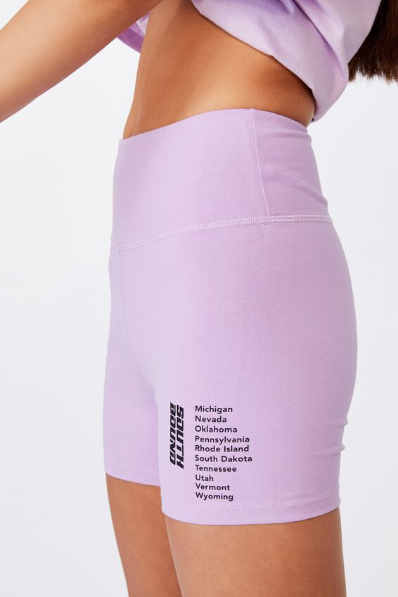 Cheeky High Waisted Printed Bike Short, ORCHID BLOOM/SOUTHBOUND
