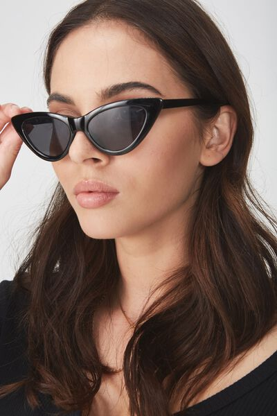 Zarah Cateye Sunnies, BLACK SMOKE