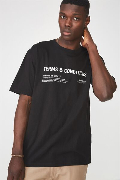 Graphic T Shirt, BLACK/TERMS