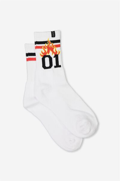 Retro Sport Sock, 01 FLAME