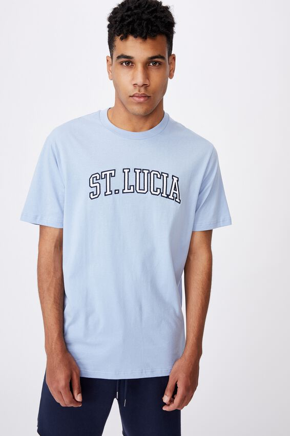 Regular Graphic T Shirt, CHAMBRAY BLUE/ST LUCIA