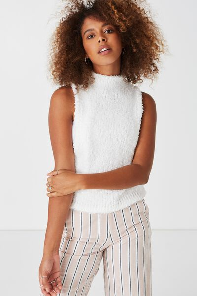 Sacramento Sleeveless Knit, SNOW WHITE