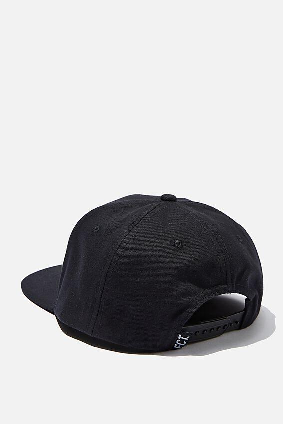 Flat Peak Cap, BLACK/AQUA FCT LOGO