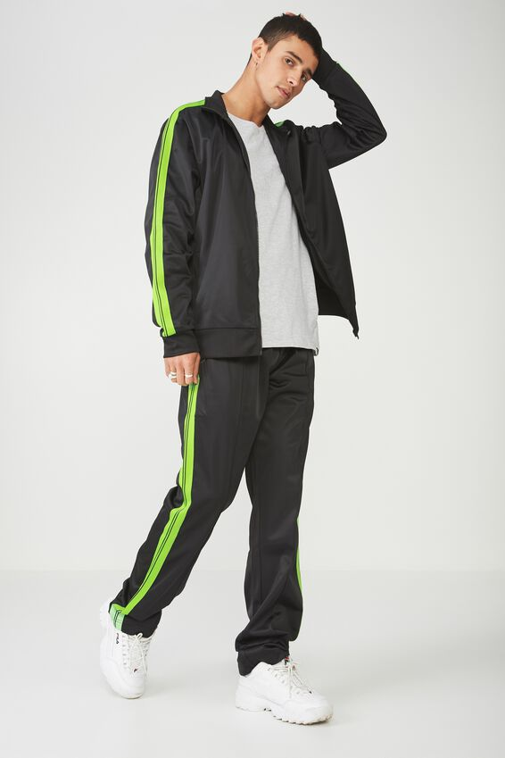 Tricot Track Pant, BLACK/GREEN