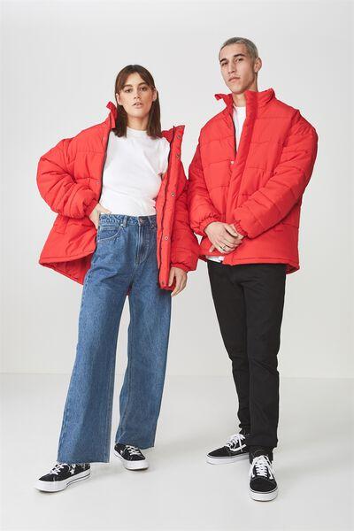 Puffer Jacket, LYCHEE