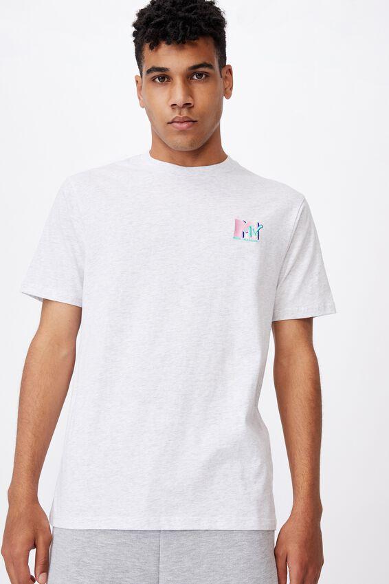 Regular Pop Culture T Shirt, LCN MTV SILVER MARLE/MTV