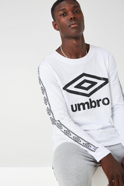 L/S Umbro, WHITE