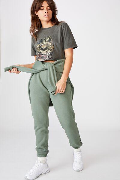 Short Sleeve Raw Edge Crop Graphic T Shirt, WASHED ASPHALT/DEATH VALLEY