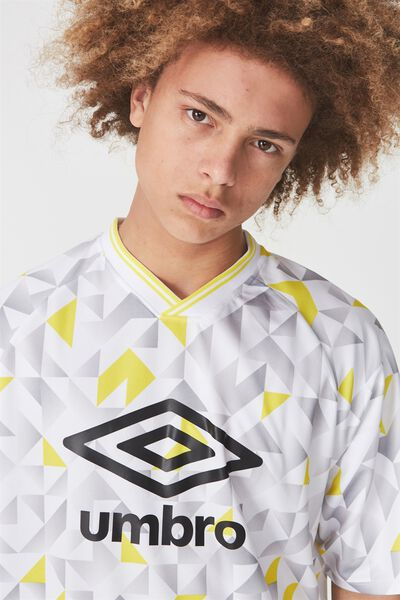 Umbro Lcn Soccer Jersey V-Neck, UMBRO YELLOW MULTI