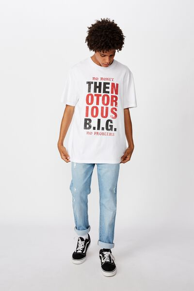 Regular License T Shirt, WHITE/THE NOTORIOUS BIG