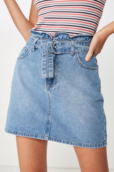 efc9c270a0 Paperbag Denim Skirt