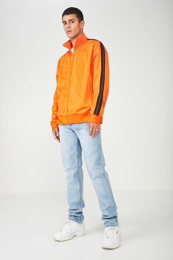 Tricot Zip Through Jacket, PUFFINS BILL/BLACK